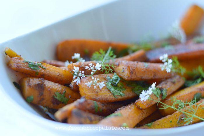 Pan Roasted Carrots with Cumin & Turmeric Butter Recipe | Five Senses Palate