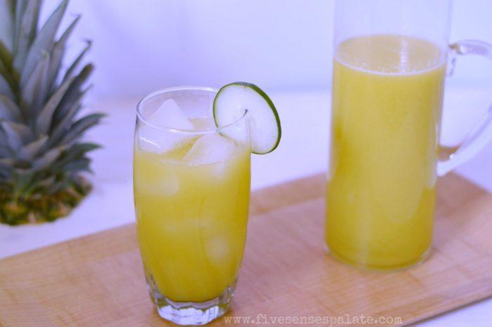 Pineapple Cucumber Orange Ginger Summer Juice Recipe | Five Senses Palate
