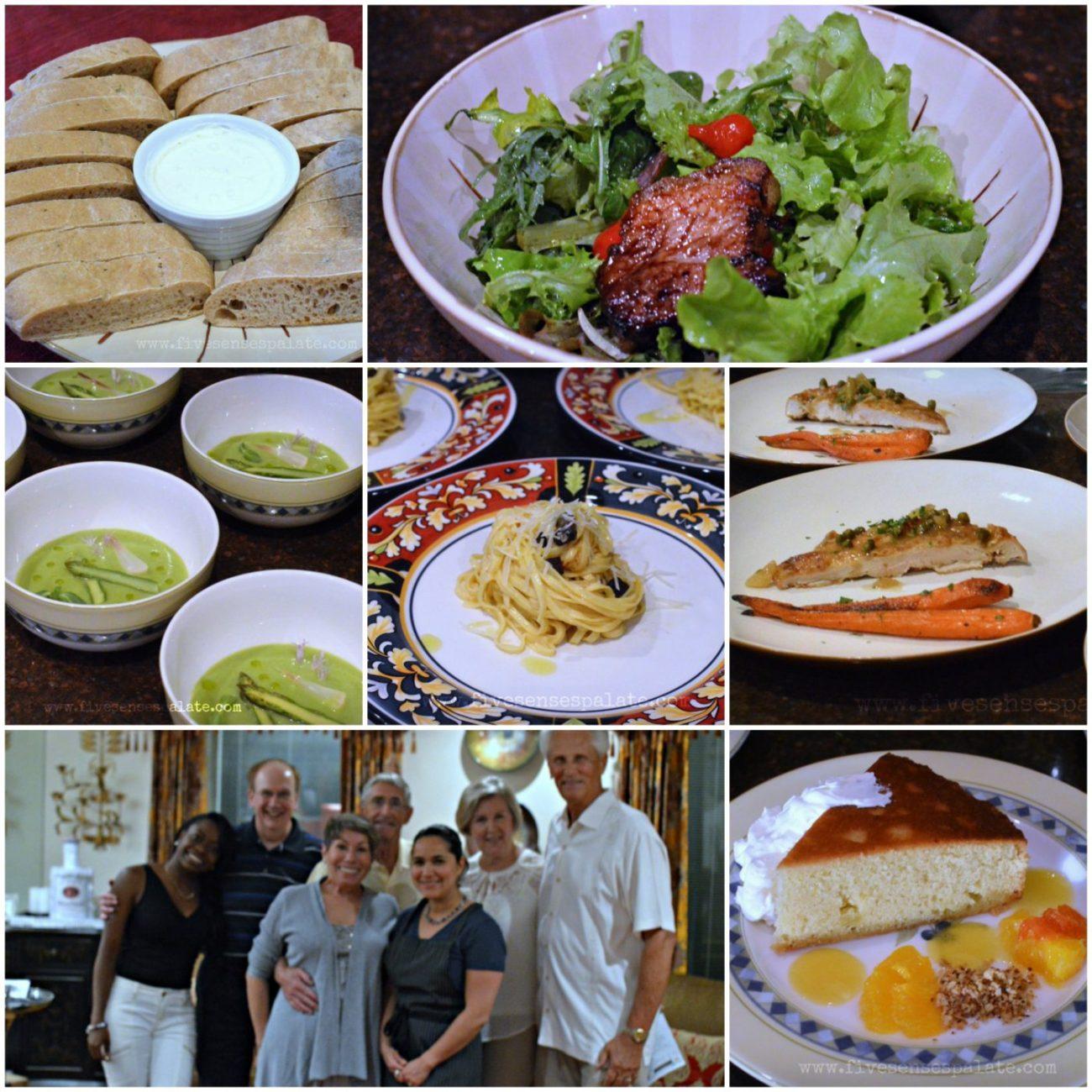 Five Course Dinner Menu   Five Senses Palate