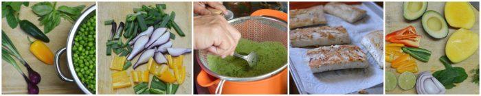 Pan Seared Mahi Mahi, Pea Soup, and Avocado-Mango Salsa Recipe   Five Senses Palate