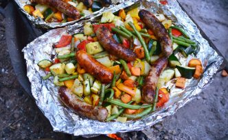 Vegetables & Sausage Over Campfire Recipe | Five Senses Palate