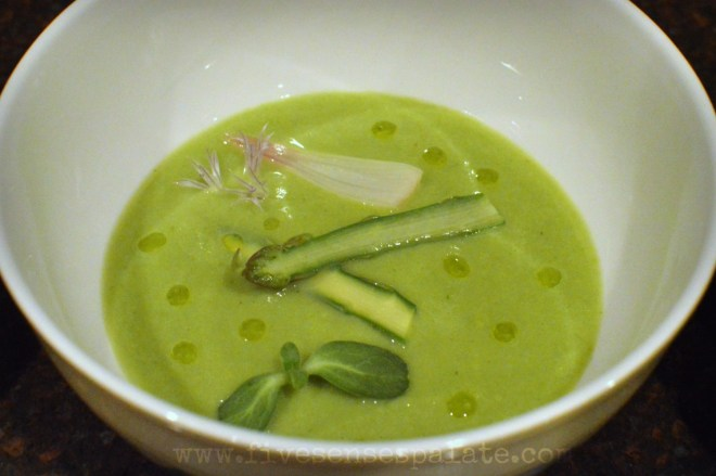 Asparagus Soup with Pickled Ramps | Five Senses Palate