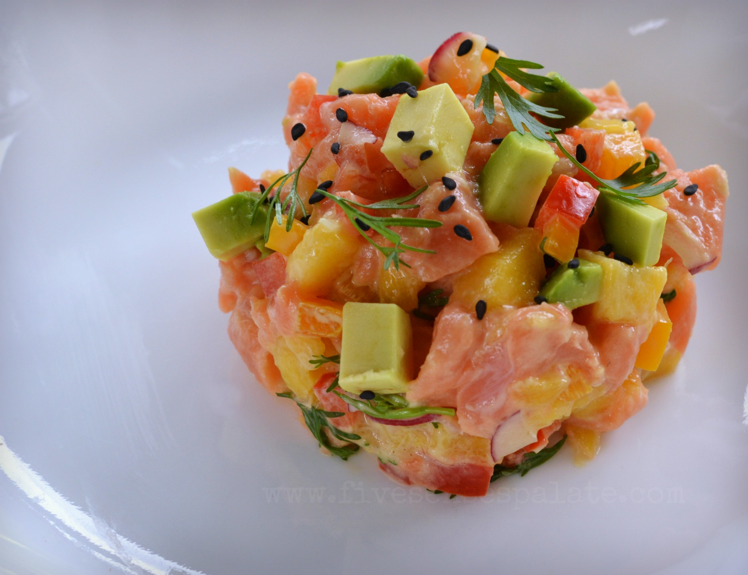 Wild Alaskan Salmon with Avocado & Mango