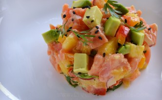 Wild Alaskan Salmon with Avocado & Mango Recipe | Five Senses Palate