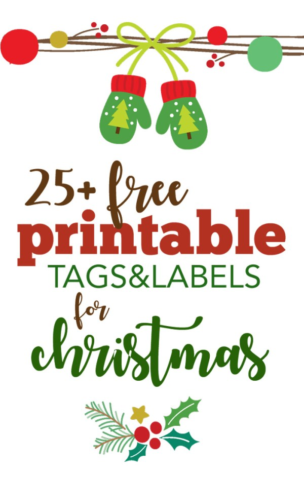 Over 25 Free Printable Christmas Gift Tags Five Spot