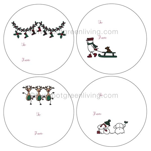 Free Printable Christmas Gift Tags and Labels Round Up
