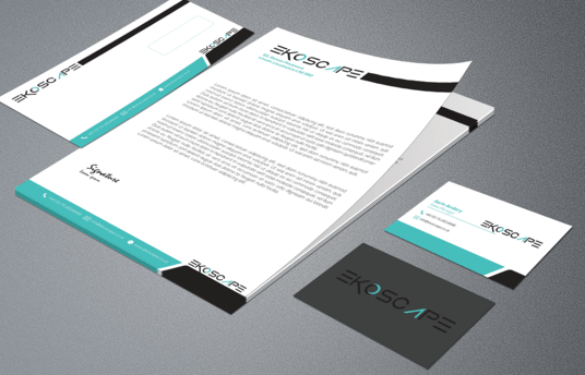 Do letterhead and matching business card and envelop for your Corporate business for 5