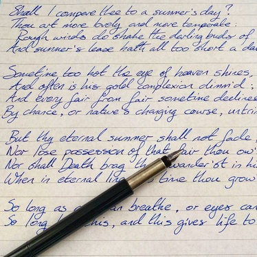Handwrite 300 words in stylish and elegant cursive lettering on quality paper for 10
