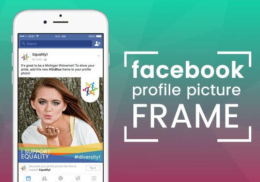 Design your Facebook profile picture frame for 5