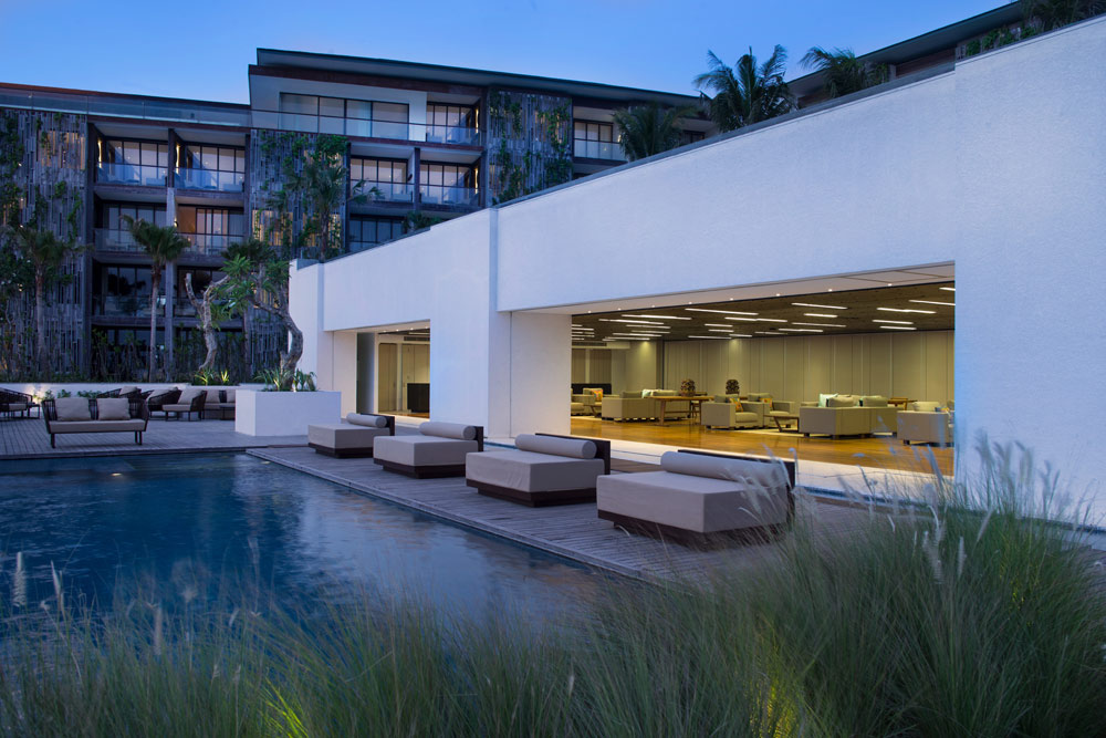 Pool and Lounge at Alila Seminyak Bali, Indonesia