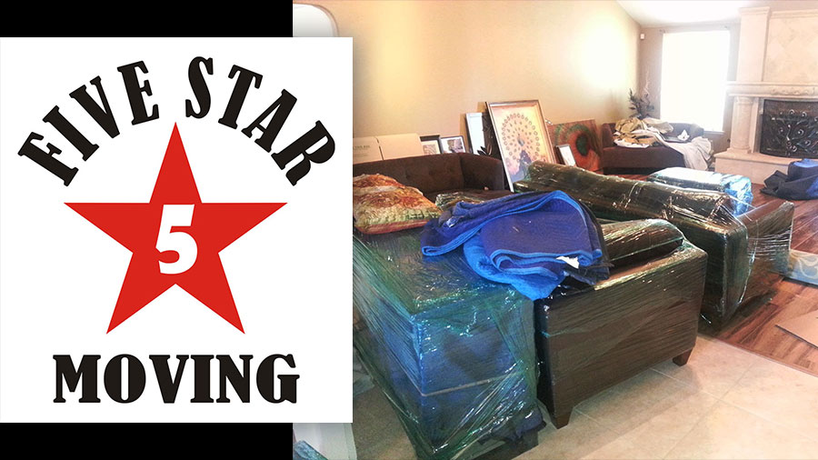Five Star Moving – Wrapping living room furniture for the move