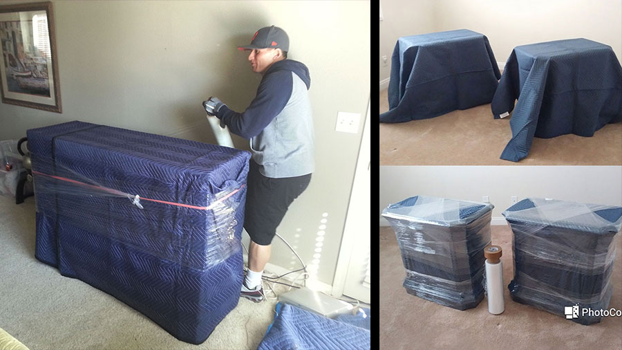 Protective padding and wrapping furniture