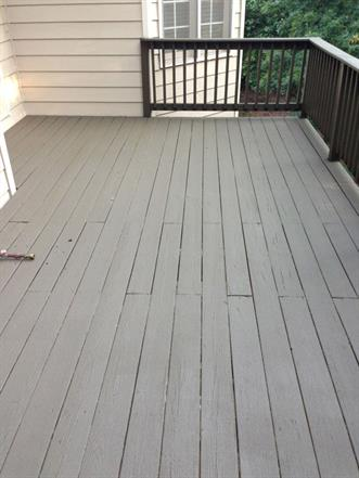what to do if paint is peeling off a deck