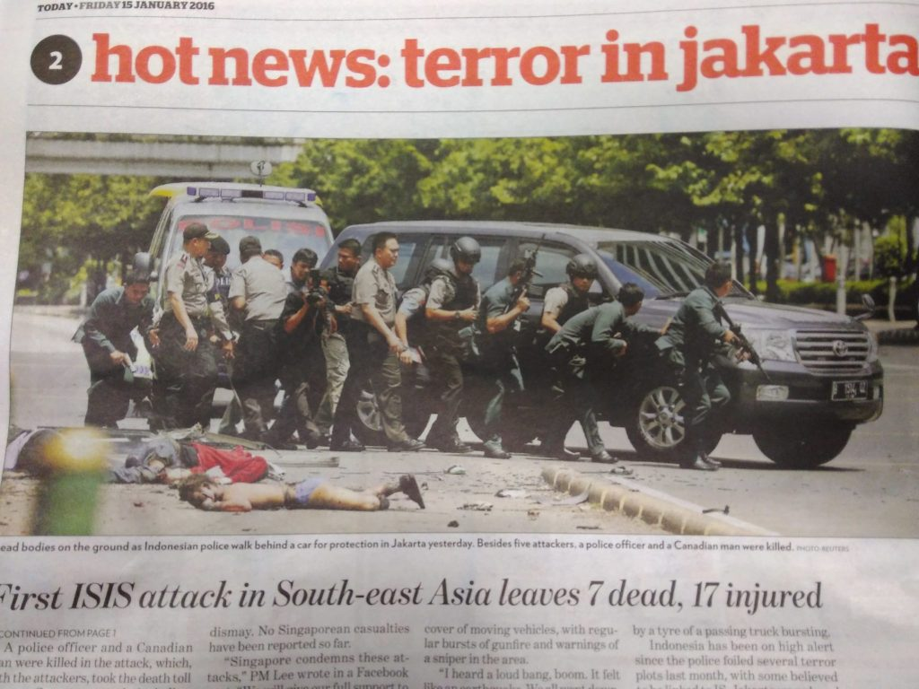 TODAY newspaper photo of dead bodies