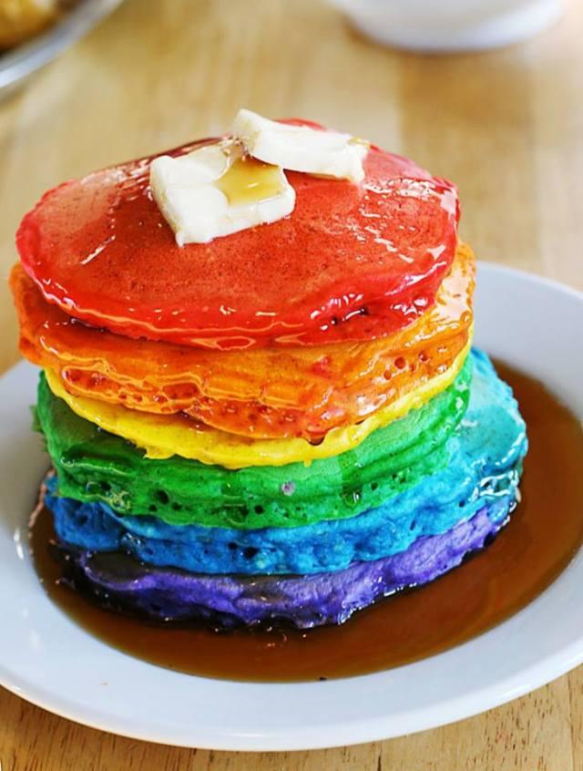 Rainbow Pancakes 1