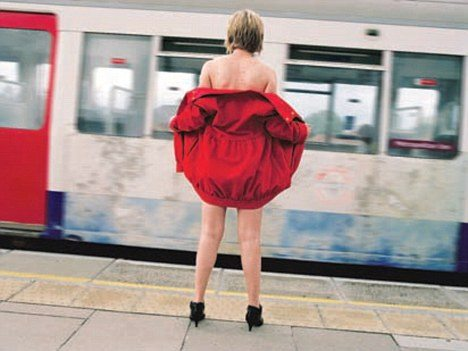 Andrea Fernandes photo of a flasher on the London Underground
