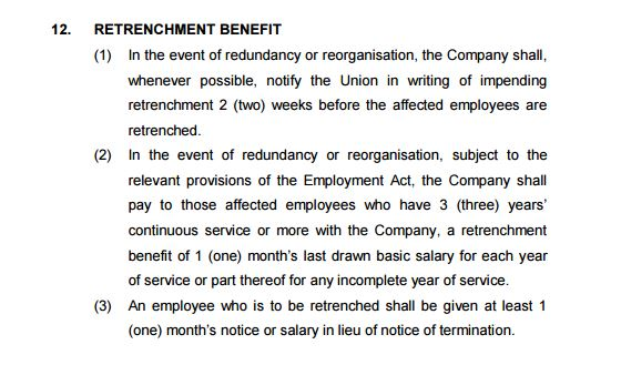 SampleCA.Retrenchment Benefit