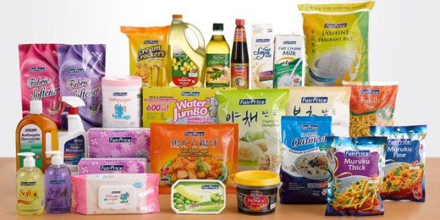 FairPrice's range of housebrand products.