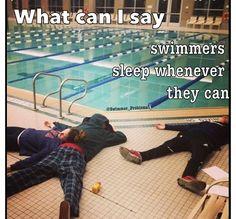 sleeping swimmers