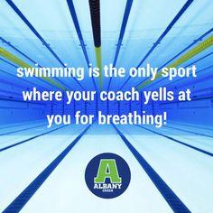 swimming coach breahting