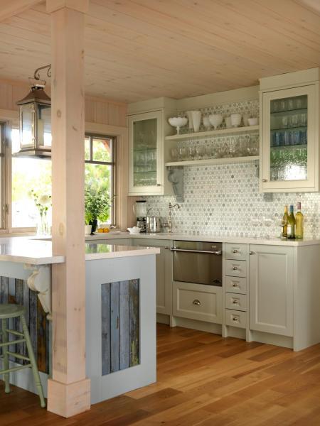 beach house kitchen backsplash Sarah Richardson Style