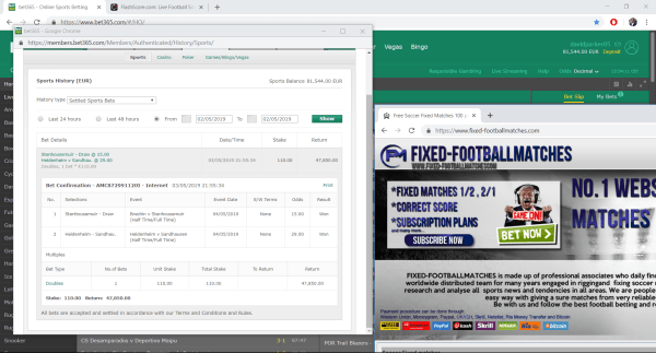 proof 04 05 fixed matches football soccer bet365 -