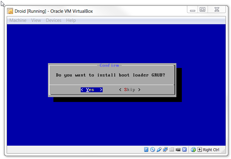 Install Grub in Virtualbox for KitKat