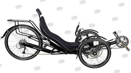 Performer JC26X Recumbent Trike 27S FRP three wheel recumbent bike
