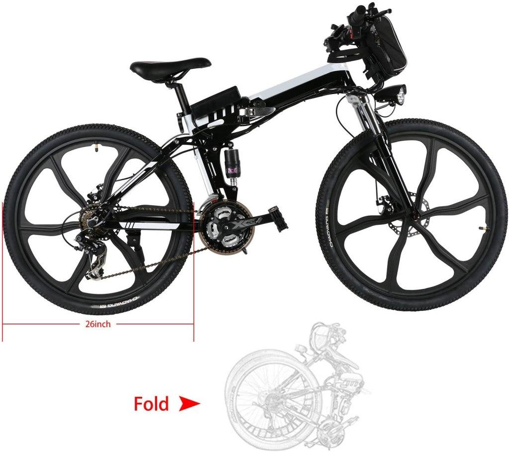 kemanner electric folding mountain bike