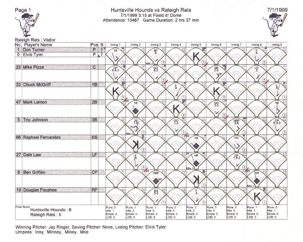 Baseball ScoreBook by Fixed It! Software