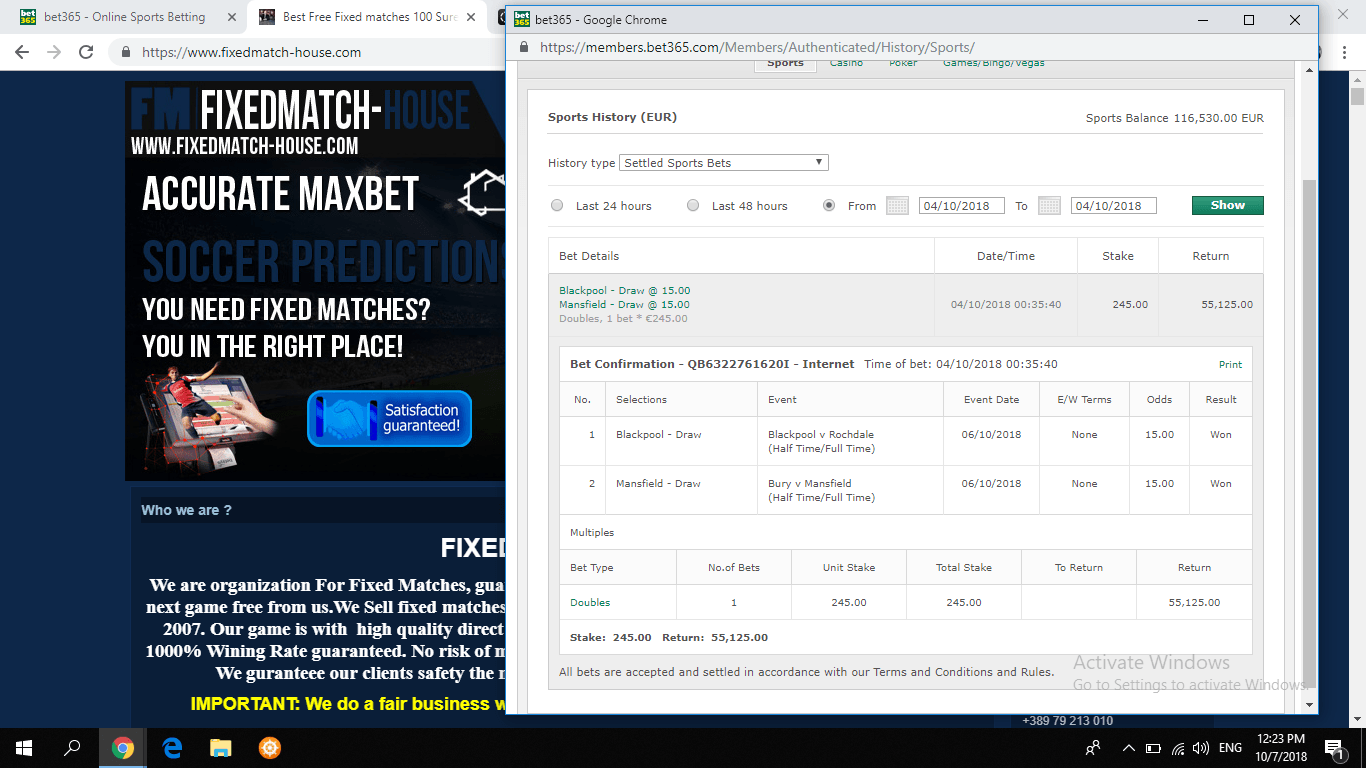 Fixed matches sure wins today 100 percent sure 1x2