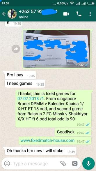 fixed matches proofs from clients, this is proof for this real fixed matches, best fixed matches, we offer and free fixed matches 100% sure since 2007