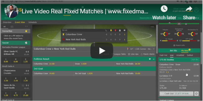 Real source Soccer Fixed Matches 100 percent sure
