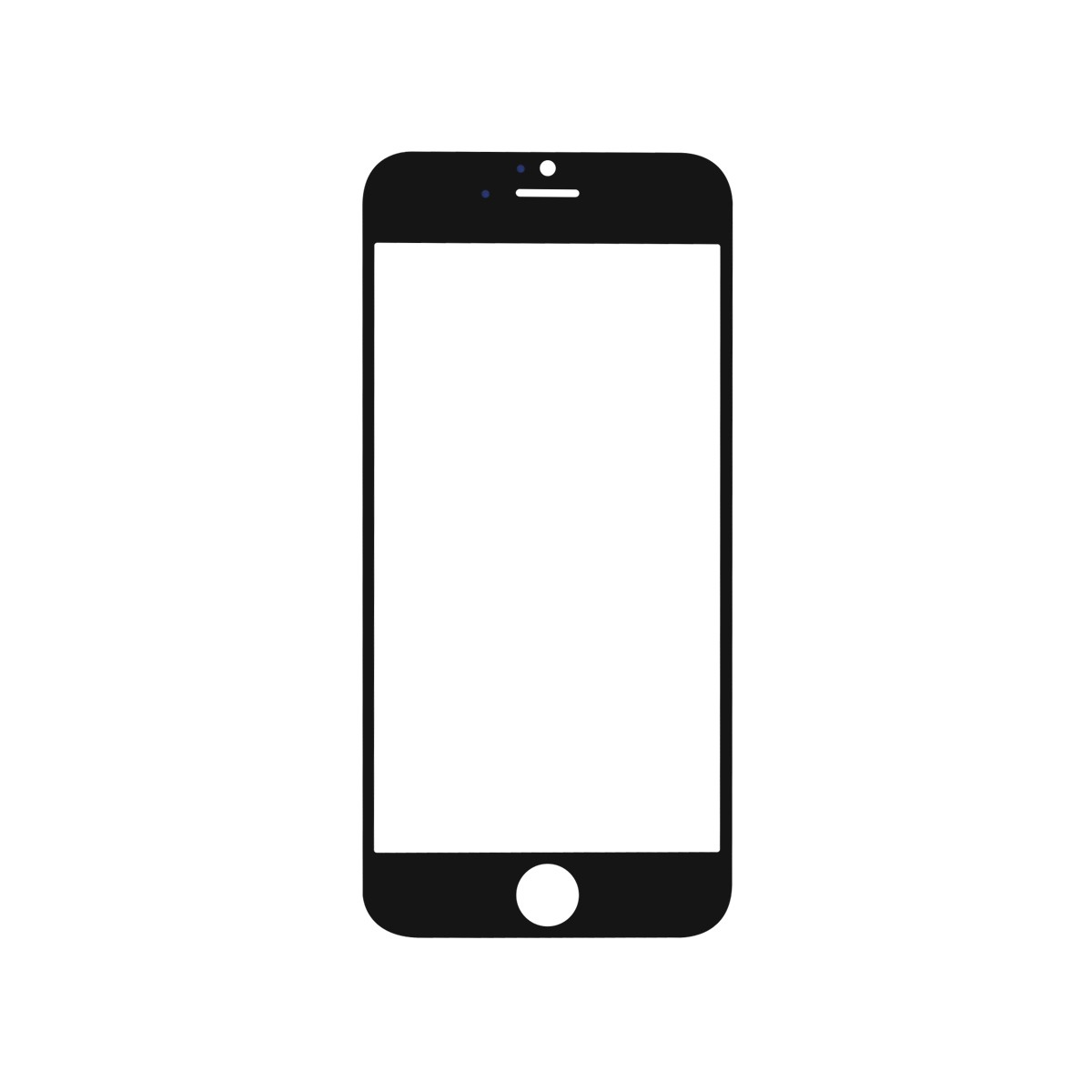 iPhone 6 Black Display Assembly with Front Camera and Home