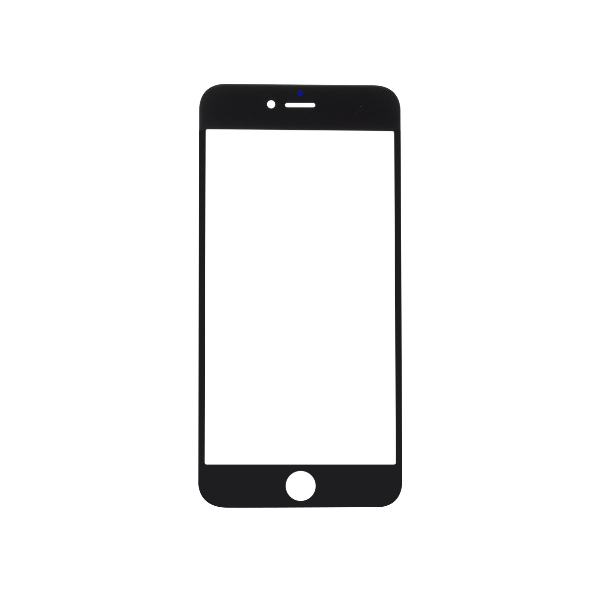 iPhone 6 Plus Black Glass Lens Screen (Front)