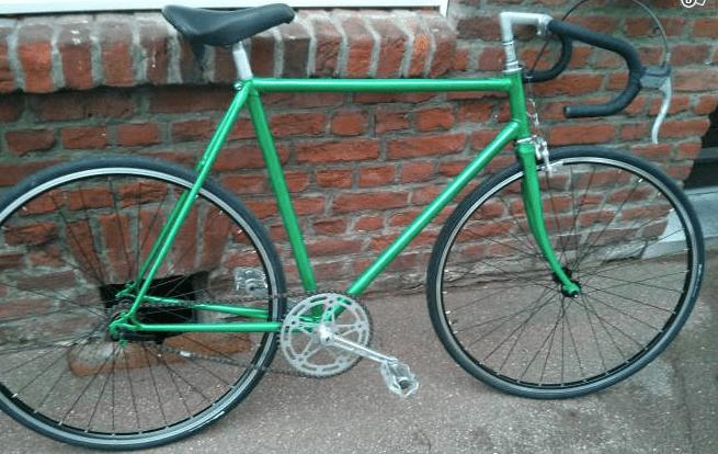 Le vélo d'origine qui devient un single speed