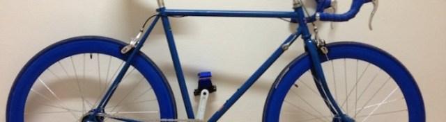 Superbe vélo/fixie bleu