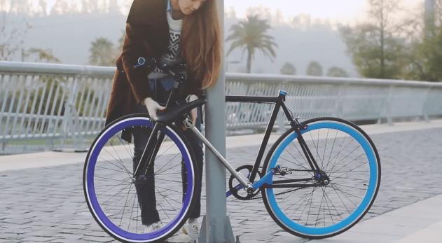Un cadre de vélo qui fait aussi antivol