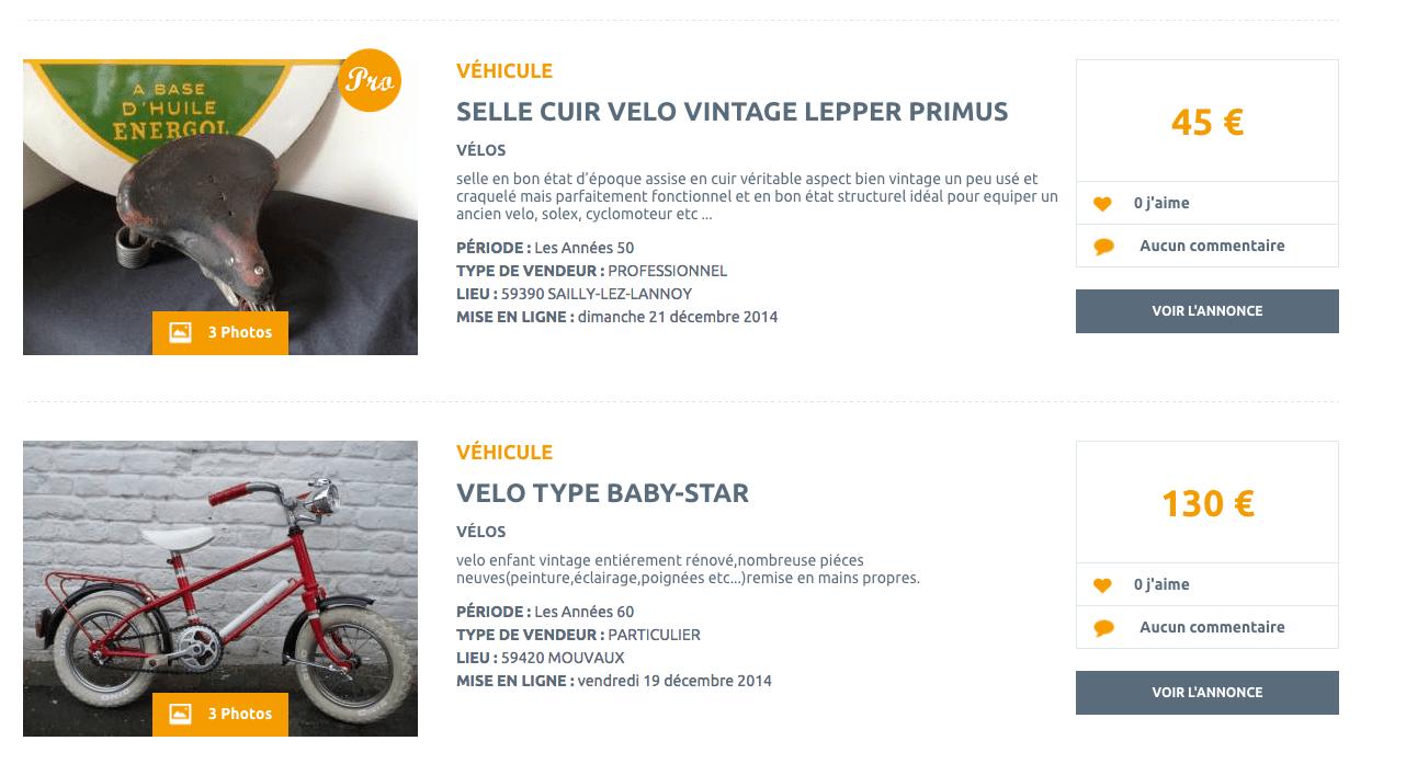 Vélos et vielles choses