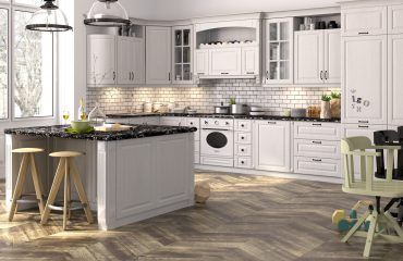 cream shaker style kitchen cabinets