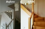 Staircase renovation before & after completion in Doncaster 2