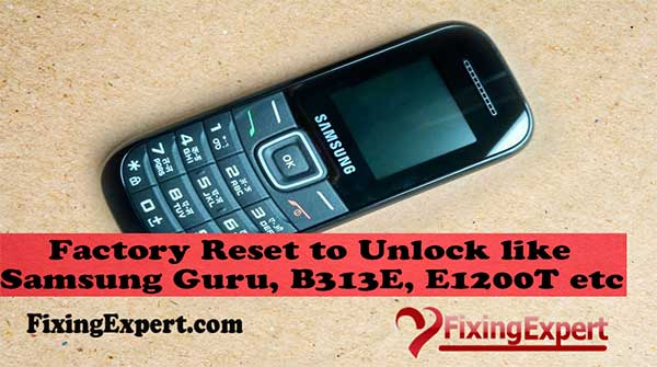 How to Factory Reset to Unlock Samsung Guru, B310E, B110E