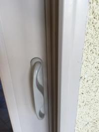 #Patio door handle has no visible screws