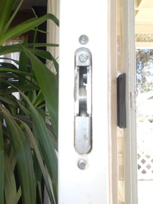 Sliding patio door lock QA