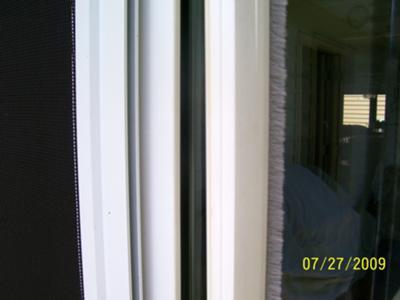 bugstrip for sliding screen door