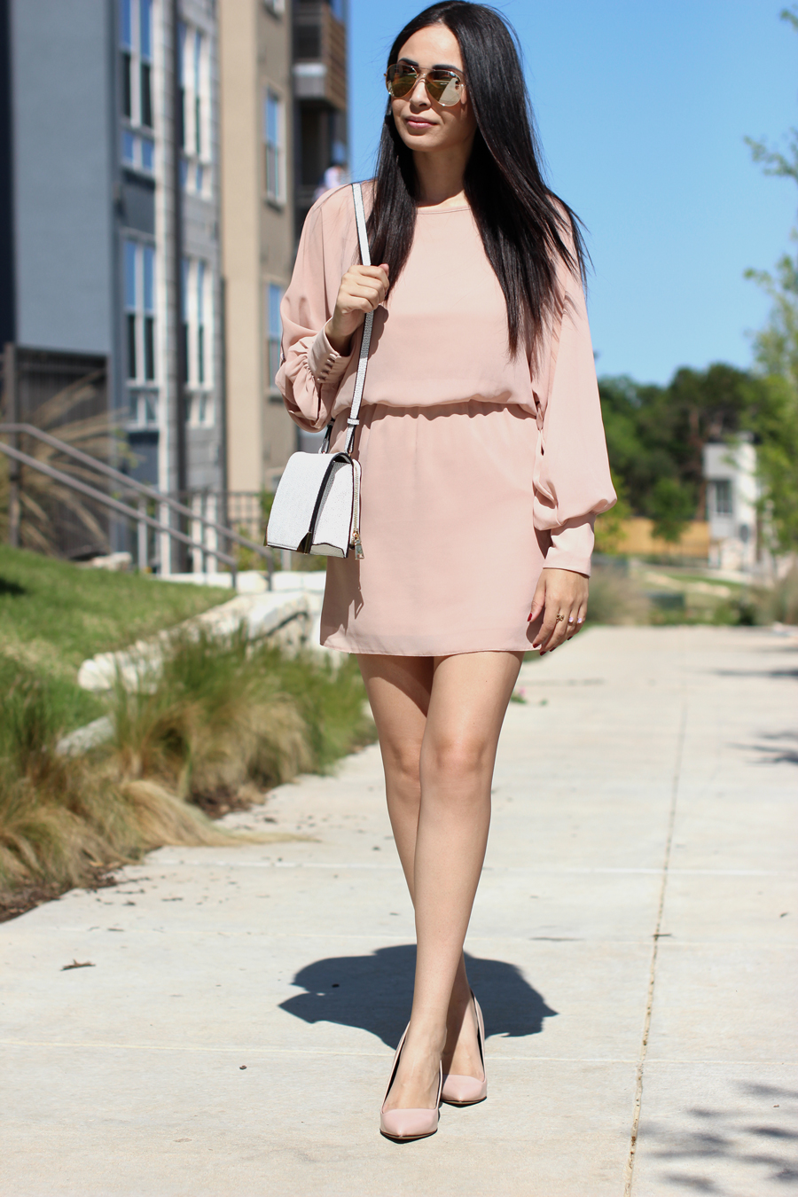 FTT-BLUSH-DRESS-NUDE-HEELS-MELIE-BIANCO-AUSTIN-FASHION-BLOGGER-2