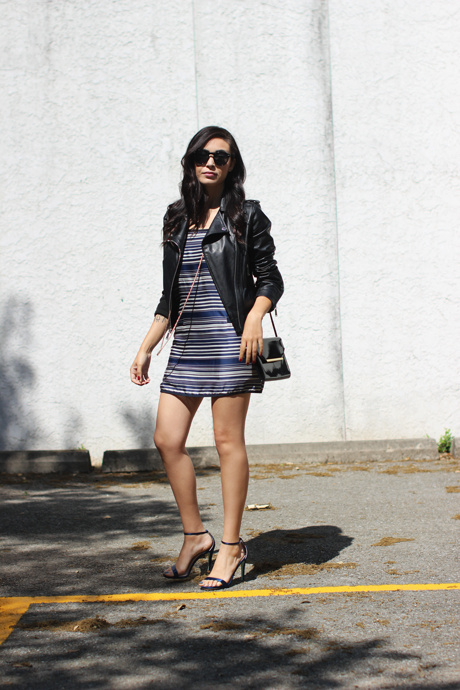 FTT-STRIPED-DRESS-LEATHER-JACKET-BCBG-AUSTIN-BLOGGER-11
