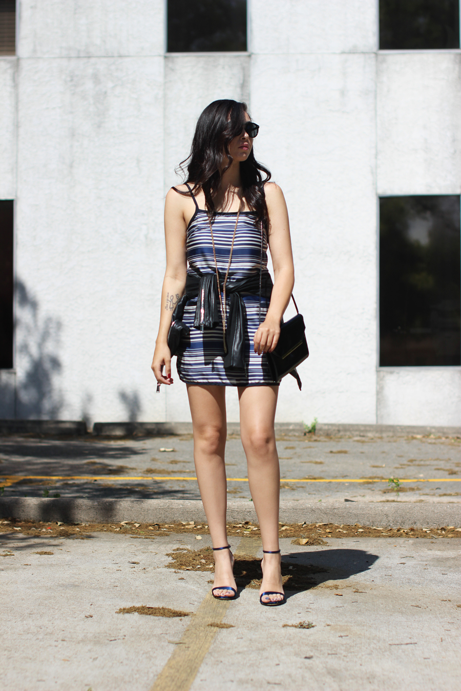 FTT-STRIPED-DRESS-LEATHER-JACKET-BCBG-AUSTIN-BLOGGER-7