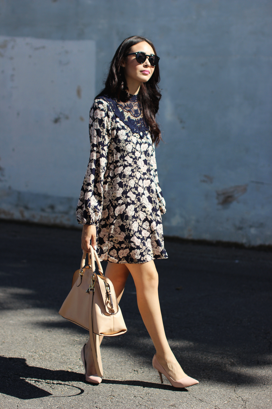 FTT-PINK-AND-SILVER-BLUE-HIGH-NECK-FLORAL-DRESS-5