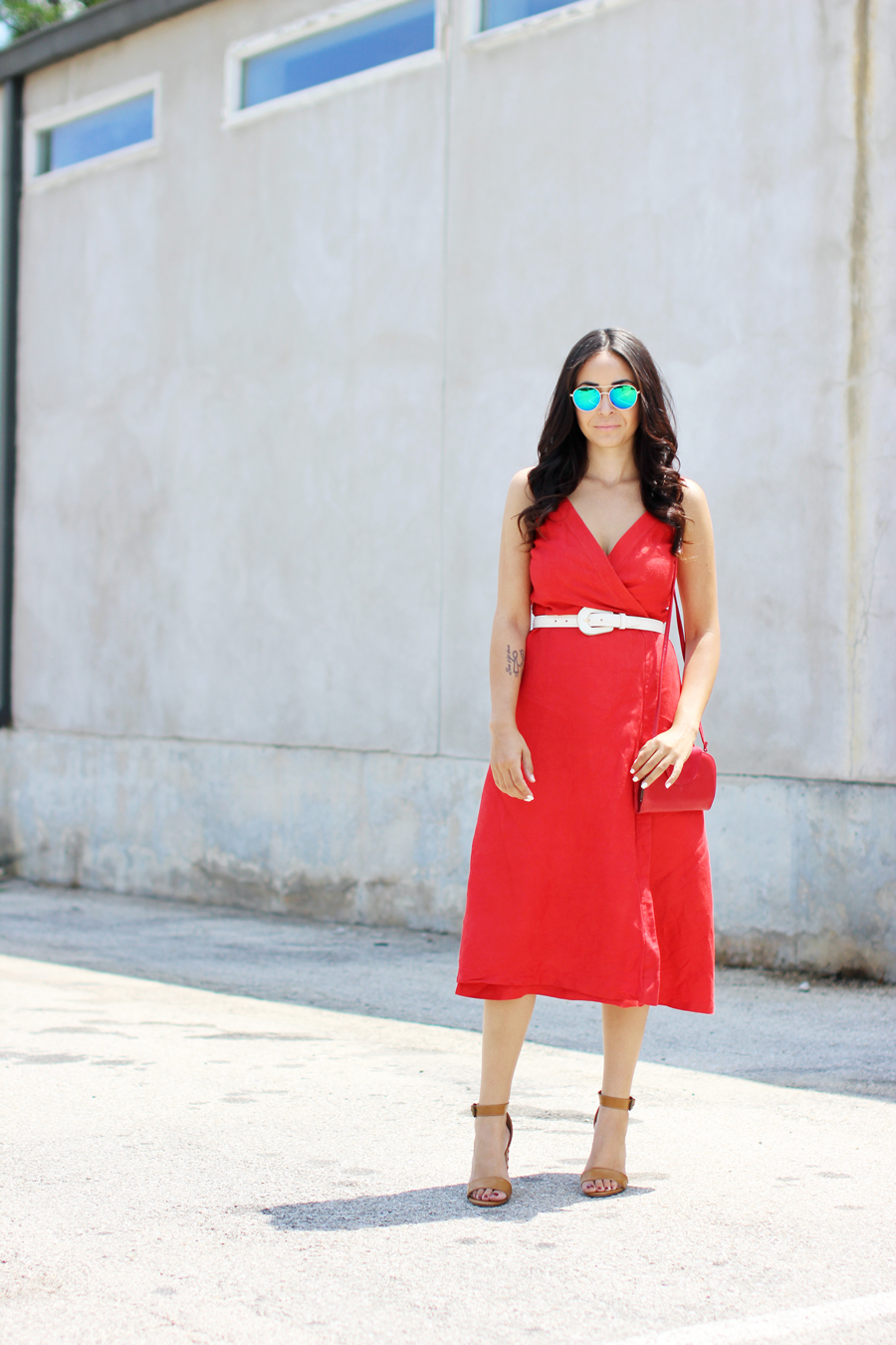 FTT-RED-WRAP-MIDI-DRESS-SUMMER-STYLE-3